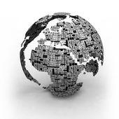 World Technology Maps — Stock Photo