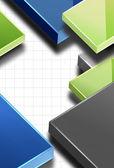 Business modern vector background, easy editable — Stock Vector