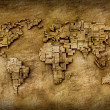 Stock Photo: Grunge world map
