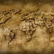 Grunge world map — Stock Photo