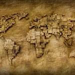 Grunge world map — Stock Photo