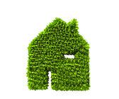绿房子性质符号 — 图库照片