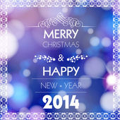 Merry Christmas and Happy New Year card design, easy all editabl — Stock Vector