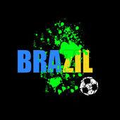 Brazilië voetbal 2014 vector — Stockvector