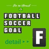 Football soccer goal panels — Vettoriale Stock