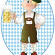 Oktoberfest man — Vector de stock