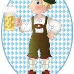 homme de l'Oktoberfest — Vecteur