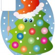 Christmas little tree — Stock Vector