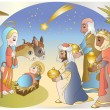 Adoration of Magi — Stock Vector #13982124