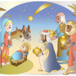 adoration of the magi — Stock Vector