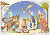 Crib-nativity — Stock Vector