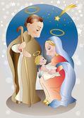 Soft colors nativity — Stock Vector