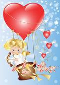 Cupid-Valentine's Day — Stock Vector