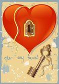 Open my Heart (3) — Stock Vector