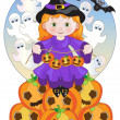 Little Witch — Stock Vector