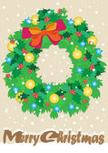 Christmas Garland — Stock Vector