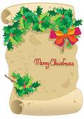 Kerstmis perkament — Stockvector