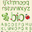 Bio Alphabet — Stock Vector