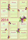 Calendário de 2014 — Vetorial Stock