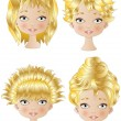 Blonde Hair Style — Stock Vector #34092347