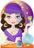 The Fortuneteller — Stock Vector