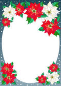 Christmas Stars Frame — Stock Vector