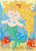 Little Mermaid — Stock Vector