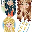 Stock Vector: Free Hairstyle Card