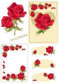 Valentine Roses — Stock Vector