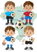 Mascot of the World Cup — Vector de stock