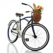 Beach cruiser with basket isolated on white — Stock Photo #19501343