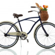Foto Stock: Beach cruiser with basket
