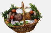 Ukrainian Ester food basket. — Stockfoto