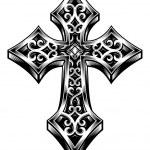 ozdobny Krzyż celtycki wektor — Wektor stockowy