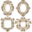 Set of Vintage Heraldic Frames — Stock Vector