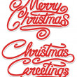 Merry Christmas Calligraphic Text — Stock Vector #34852967