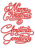 Merry Christmas Calligraphic Text — Stock Vector