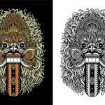 Balinese Demon Mask — Stock Vector #47809033