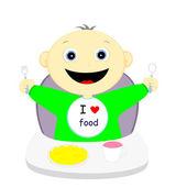 I love food — Stock Vector