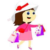 Baby shopping — Stock Vector