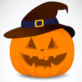 Pumpkin with hat — Stockvector