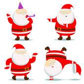 Different Santa Claus — Stock Vector