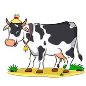The cow — Stock Vector