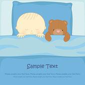 Boy with a Teddy bear — Stock Vector