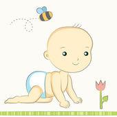 Baby creeps — Vector de stock