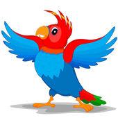 попугай с крыльями — Cтоковый вектор
