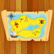 Treasure map — Stock Vector #43257453