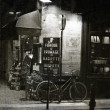 Parisian cafe in the evening — Stock Photo