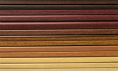 Collection of wooden frames — Stock Photo