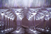 Wine glasses lined up in a row — Stock Photo